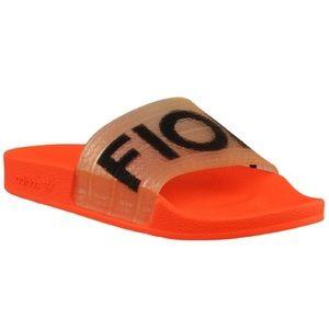 ADIDAS x Fiorucci Orange Neon Slide Sandals